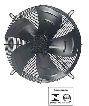 Exaustor e Soprador Axial 40cm Cooler Asafan Reversível ASA 4D-400SE 220v/380v 400mm - 5Pás