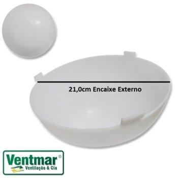 Globo Cupula Plastica para Luminaria do Ventilador de Teto Venti-Delta Twister - Globo Twister Encaixe 210mm
