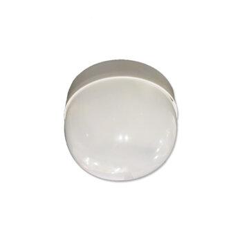 Plafon Luminária para Ventilador de Teto Venti-Delta New Montana New Paraty - Plafon Plástico Branco c/Globo Cupula Plástica c/1-Soquete