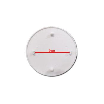 Emblema da Grade Ventilador Venti-Delta - Cor Branca - Logomarca Premium Oscilante 4Pinos de Travamento