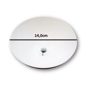Canopla Plástica Superior para Ventilador de Teto Ventisol - Diâmetro Externo Superior 14cm