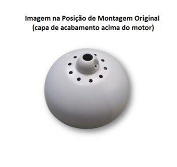 Canopla do Motor do Ventilador de Teto VOLARE - Parte Inferior Branca - Diâmetro externo 22,5cm