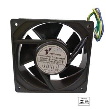 Exaustor Microventilador 11cm Bivolts - Cooler Ventisilva Axial E11 NYCD - Carcaça de Nylon 120X120X39