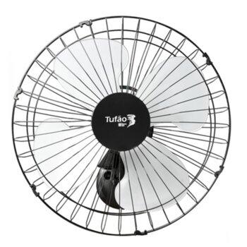 Ventilador de Parede 50cm Loren Sid Tufão M1 Bivolts 250w Preto - Grade Metal - Chave Controle de Velocidade Rotativa