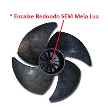 Helice para Climatizador Mega Brisa MC70 MWM M7000 M7P/M7J Giro Anti-HORÁRIO 4Pas Encaixe Ponta Redonda em Eixo 15,0mm Sem Trava Traseira