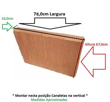 Colmeia para Climatizadores Diversos Modelos - Espessura 10,0 x Largura 78 x Altura 67,0cm - Painel Evaporativo - Filtro de Climatizador Mega Brisa