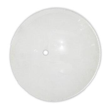 Globo Cúpula Vidro da Luminária Ventilador RioPrelustres Max 1001 1003 1007 - Vidro Fosco/Leitoso com Furo Central - Diâmetro Externo 22,5cm