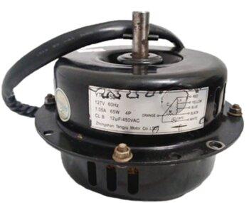 Motor para Climatizador Ventisol 45Litros CLI-01 127v12,0uF 65w Motor Lado Hélice Giro Horário - Usar Capacitor 12uF - Eixo 12mm - Motor Original