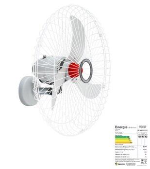 Ventilador de Parede 70cm Solaster Veneza Plus Bivolts 188/226w cor Branco/Cinza Hélice 3Pás Grade Metal Controle de Velocidade - Ventilador Veneza 70