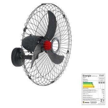 Ventilador de Parede 70cm Solaster Veneza Plus Bivolts 188/226w cor Preta Hélice 3Pás Grade Metal Controle de Velocidade - Ventilador Veneza 70cm