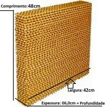 Colméia para Climatizador Ventisol CLIPRO45/70/100Litros / MWM M4500 41Litros - Painel Traseiro - Espessura 6,0cm x L42 x A48CM - Painel Evaporativo T