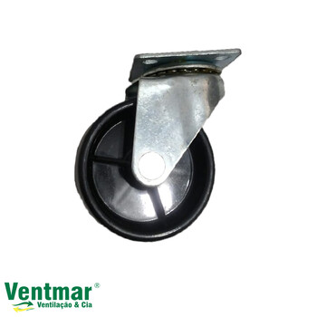 Roda para Climatizador Ventisol Linha CLI-01/CLI-02 45Litros - Roda Móvel Traseira Sem Trava para Climatizador CLI-01/CLI-02 - Vendida p/Unidade
