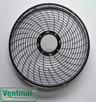 Grade Plástica para Ventilador Dômina 6/8Pás 50cm - Grade serve p/DIANTEIRA ou p/TRASEIRA - Cor PRETA - *Vendida p/Unidade