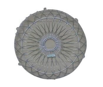 Grade para Ventilador ARGE 60cm Antigo - Metal Cromada Desenhada - Ventilador Coluna ou Parede - Serve p/Traseira - Vendida p/Unidade