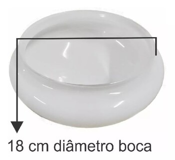 Globo Cúpula Vidro da Luminária do Ventilador De Teto Aliseu Inspire Nano - Vidro do Ventilador Aliseu Jet - Gola/Encaixe 180mm