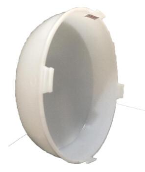 Globo da Luminária Ventilador de Teto Efyx 1a Geração/Antigo c/04 Travas no Globo - Cúpula Globo Plastico Efyx - Apenas o Globo - Encaixe 22cm