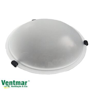 Luminária para Ventilador Volare Premium/Volare Ventax/Venti-Delta Magnes/Ventisol Sunny - Monte Carlo2 Base Suporte Preto c/Vidro Fosco 300mm