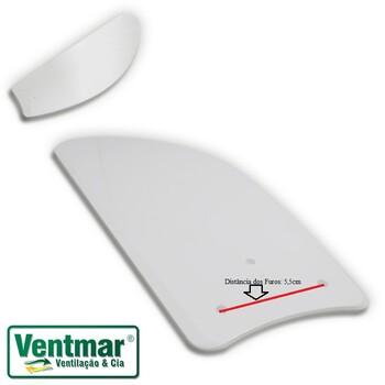 Pá Hélice Para Ventilador De Teto Venti-Delta C/03 Furos Garra Pequena - Modelo Tubarão MDF Laqueada