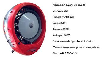 Climatizador de Ar Joape Cassino 220Volts Fixo de Parede - Rede HD - Vazão de Ar 2500m3/h - P/Até 40