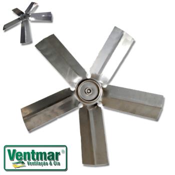 Helice 50cm Metal 5pas 10mm - Exaustor VENT NEW - com Parafuso Lateral - VTN50CM HEL50 HELEXAVTN HEL