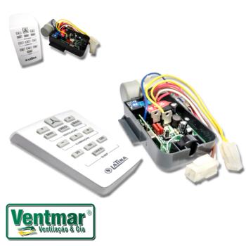 Controle Remoto Ventilador Latina 127 Volts KIT c/Módulo Transmissor/Receptor - Capacitor 08,0uF - M