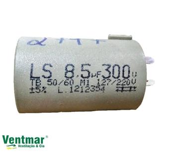 Capacitor para Ventilador Loren Sid 08,5uF 300VAC c/Terminal 3 ou 4 pinos - Ventiladores Oscilantes