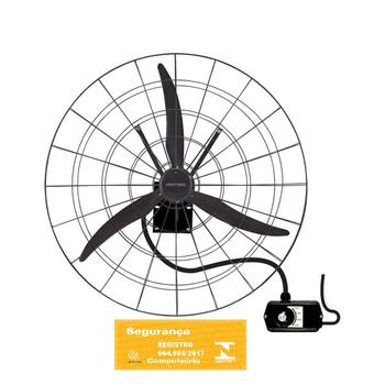 Ventilador de Parede 100cm Ventisol Premium Industrial Fixo 220Volts - Chave 3 Velocidades - Ventilador de Parede 1 Metro de Diâmetro