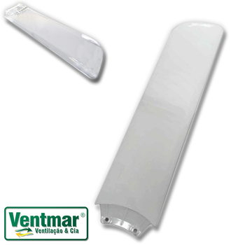 Pá Hélice para Ventilador de Teto Aliseu AlisClean Cristal Transparente com Garra Injetada - Vendida p/Unidade