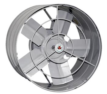 Exaustor de 30cm Venti-Delta 110v Vazão 1.200 m3h - c/Chave Reversão - cor Cinza - Exaustor p/Ambientes