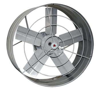 Exaustor de 40cm Venti-Delta 220v02/04,0uF Vazão 4.200 m3h - Hélice 5Pás c/Chave Reversão - cor Cinza