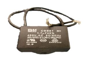 Capacitor para Ventilador - Potencia 01,7uF Saída 2Fios 405VAC - Capacitor para Ventilador de Teto - Original Fanaway - Capacitor Quadrado