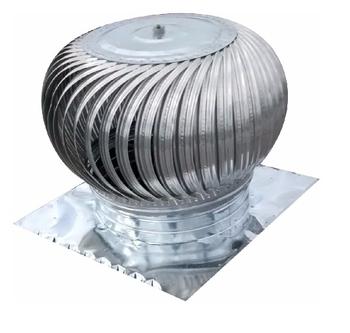 Exaustor Eólico de 24 Polegadas 61cm Vazão 4000m3/h - Kit para Montagem com 44 Aletas de Alumínio + 2 Chapas CSN26 - Marivent