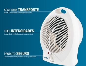 Aquecedor de Ambientes 220v Termoventilador Doméstico Ventisol Modelo A1-02 2000w (OCP-0040 SGS)