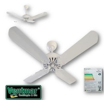 Ventilador de Teto Comercial SUPER Ciclone 127v - Branco 4 Pás Alumínio Brancas - c/Chave de Reversão