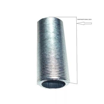 Nipel de Metal com Rosca - 08cm Comprimento - Para Luminárias - Niple de Metal 080mm