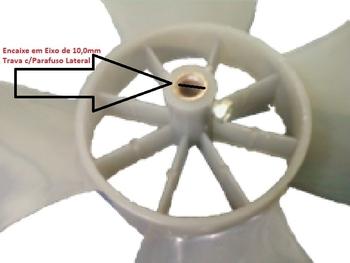 Hélice Ventilador Arge Max 50cm 4Pás Encaixe Eixo 10mm Modelo ANTIGO c/Parafuso Trava Lateral