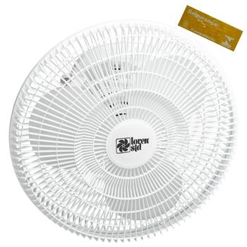 Ventilador de Teto Loren Sid Orbital 40cm 127v Branco - Rotação em 360° Grade Plástica Turbo (OCP-00