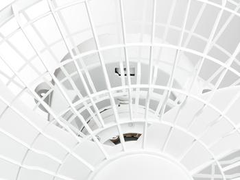 Ventilador de Teto Loren Sid Orbital 50cm Bivolts Branco - Rotação em 360° Grade Plástica - Ventilador Orbital 50cm