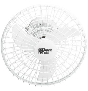 Ventilador de Teto Loren Sid Orbital 50cm Bivolts Branco - Rotação em 360° Grade Plástica (OCP-0005)