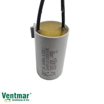 Capacitor para Ventilador de Teto Loren Sid 220Volts 2Fios 03,0uF 380VAC - Ventilador Tron Volare Latina - Exaustor Ventisol 30cm 220v