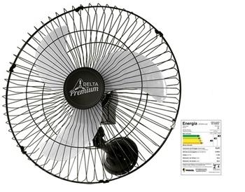 Ventilador de Parede 60cm Venti-Delta Premium Bivolts 170w Preto Hélice 3Pás c/Chave Controle de Velocidade - Vazão de Ar 13.800m3/h