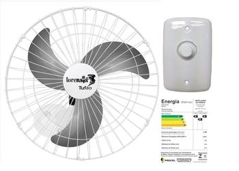 Ventilador de Parede 60cm Loren Sid Bivolts 250w 08,5uF Branco - Chave com Controle de Velocidade Ro
