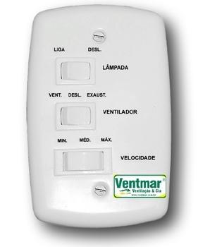 Chave para Ventilador de Teto Venti-Delta NEW LIGHT - Ventilador LATINA - Ventilador Air Design - 3Velocidades c/Capacitor 07,5uF 3,0+4,5mF