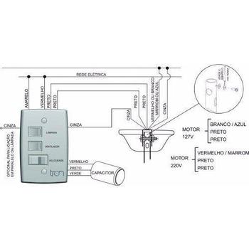 Chave para Ventilador de Teto TRON Aventador 110v08,5uF 3,5+5,0mF 3Velocidades - Chave Cantos Retos Original Ventilador Aventador