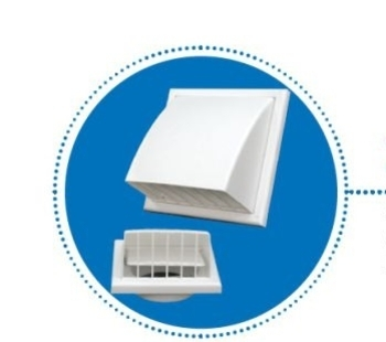 Grade Veneziana 15x15cm 150mm para Ventilação de Fachada c/Válvula Anti Retorno - Anti-Inseto