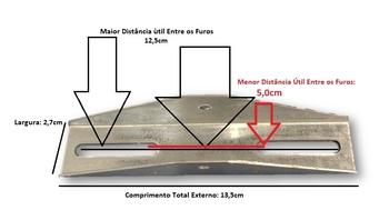 Suporte para Ventilador de Teto Aliseu - Suporte de Fixação para Ventilador Aliseu Terral e demais Modelos - 13,50cm