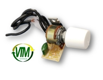 Controle para Ventilador - Controle de Velocidade Dimer Rotativo com Clique 0400W Bivolts - Knob Bot