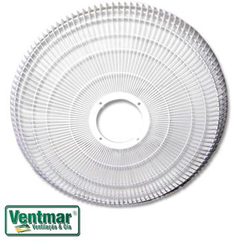 Grade para Ventilador ARGE 50cm Stylo Twister Plástica Branca - Ventilador Coluna/Mesa ou Pardede - Serve p/Dianteira ou Traseira - Vendida p/Unidade