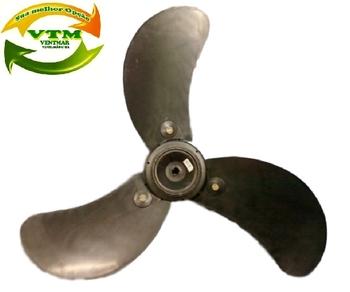 Hélice 60cm Plástica 3pás 12mm - Ventilador Solaster Acapulco Plus - Ponta Meia Lua c/Trava Elástica