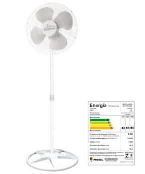 Ventilador de Coluna 50cm Venti-Delta Bivolts 170w Branco Oscilante Delta Premium - Hélice 4Pás Grades Metal Brancas Chave Controle de Velocidade